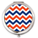 Blue and Orange Chevron Compact