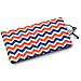 Blue and Orange Chevron Eyeglass Case