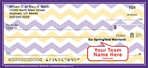 Purple & Gold Chevron Personal Checks