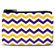 Purple and Gold Chevron Coin Purse