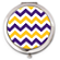 Purple and Gold Chevron Compact