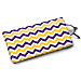 Purple and Gold Chevron Eyeglass Case