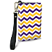 Purple and Gold Chevron Small Wristlet Purse