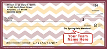 Burgundy & Gold Chevron Personal Checks