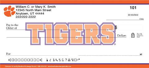 Clemson University Personal Checks