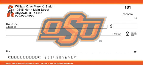 oklahoma state university personal check designs