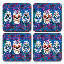 Honor Dia de los Muertos, the Traditional Mexican Holiday, with These Skull Coasters