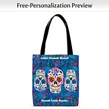 Give a Dia de los Muertos-Worthy Wink at the Afterlife with this Colorful Carryall
