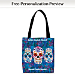 Day of the Dead Fabric Tote Bag
