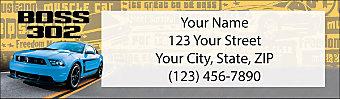 Ford  Mustang Return Address Label