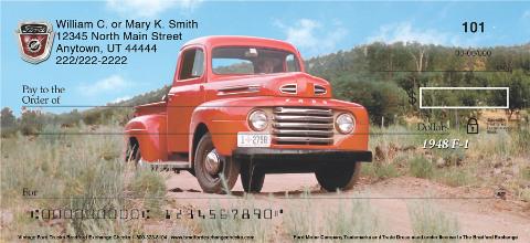 Vintage Ford Trucks Personal Checks