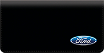 Genuine Leather Ford Logo Checkbook Cover Shows Your Ford Pride in Style