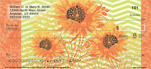 Sunflower Spunk Personal Checks