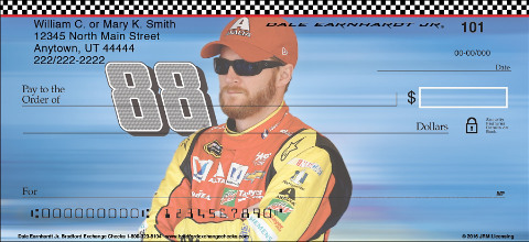 Race Away with These Dale Earnhardt Jr. Personal Checks!
