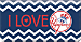 I Love the Yankees™ Chevron Checkbook Coverr