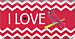 I Love the Cardinals™ Chevron Checkbook Cover