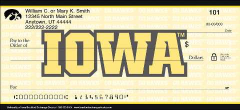 University of Iowa® Checks Show Your Team Pride!