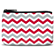 Red and Gray Chevron Coin Purse