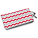 Red and Gray Chevron Eyeglass Case