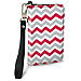 Red and Gray Chevron Small Wristlet Purse