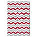 Red and Gray Chevron Soft-Touch Paperbound Journal