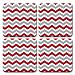 Red and Gray Chevron Coaster Set