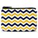 Blue and Gold Chevron Coin Purse
