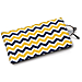 Blue and Gold Chevron Eyeglass Case
