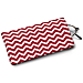 Red and White Chevron Eyeglass Case