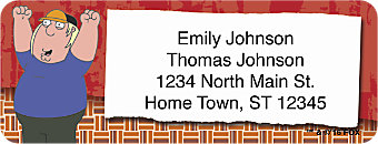 Family Guy TV Show Return Address Label