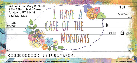 Make Every Day Fun with These A Case of the Mondays Personal Checks!