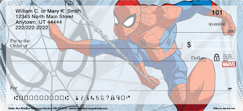 Soar with Your Favorite Superhero in these Action-Packed Spider-Man Personal Checks!