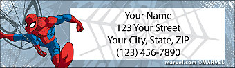Spider-Man Return Address Label