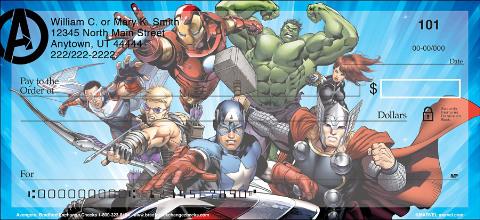 Avengers Personal Checks