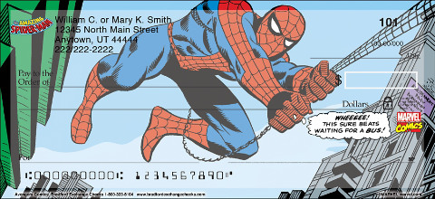 Soar with Your Favorite Superheroes in these Action-Packed Avengers Comics Personal Checks!