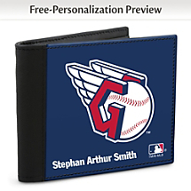 Show Your Indians™ Loyalty and Keep Cards Safe with this Leather-Accented RFID Wallet!
