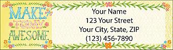 Make Today Awesome Return Address Label