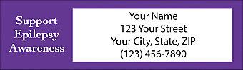 Epilepsy Awareness Return Address Label