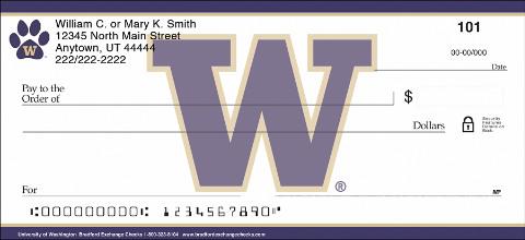 University of Washington® Checks Show Your Team Pride!