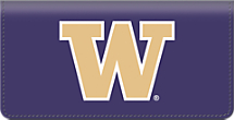 Genuine Leather University of Washington® Checkbook Cover Celebrates the Huskies®