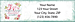 Beautiful Moments Return Address Label