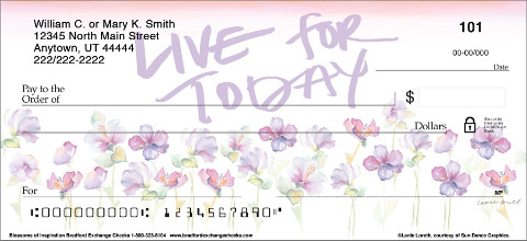 Artistic Affirmations Go Full Floral on this Series of Exclusive Checks