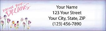 Blossoms of Inspiration Return Address Label