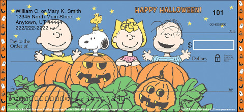 Fun Halloween Checks are a Great Tribute to the Great Pumpkin and the Whole Peanuts® Gang