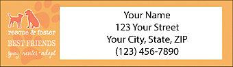 Rescue & Adopt Return Address Label