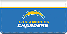 Genuine Leather Los Angeles Chargers Checkbook Cover Celebrates Your Favorite Professional Football Team