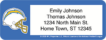 Los Angeles Chargers NFL Address Labels