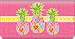 Pineapples Fabric Checkbook Cover