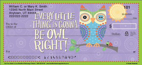 Always Give it Owl You've Got with Inspirational Owl Checks