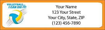 Volleyball Address Label
